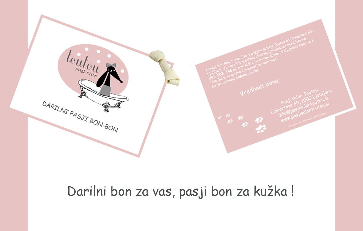 Pasji salon Toutou_darilni pasji bon